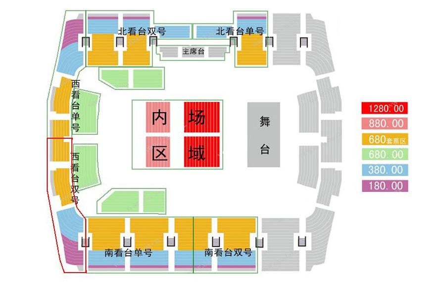 开见证奇迹 2014玖月奇迹北京演唱会 奥体中心体育馆座位图